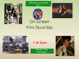 On screen.film favorites