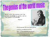 The genius of the world music