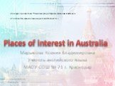 Places of Interest in Australia
